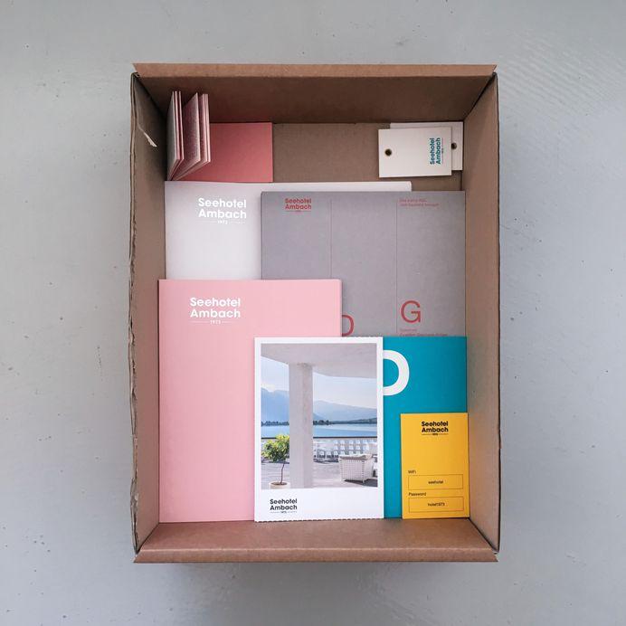 Seehotel Ambach printed matter, design: Studio Mut