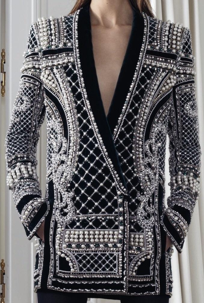 KRISTIANS KOTANS : Photo #beads #textile #balmain
