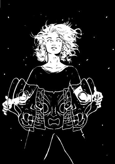 tumblr_lzi4qgHfLV1qjco10o1_r1_1280.jpg (1280×1828) #girl #space #tosheff #illustration #stefan #mask