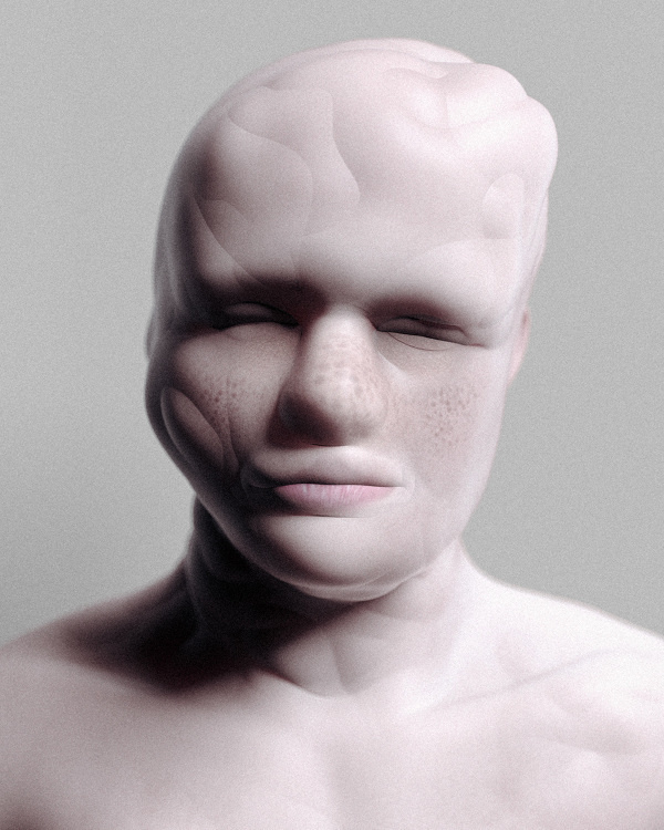 Procedural Portraits - Can Pekdemir / Works #procedure #face #deformed #distortion