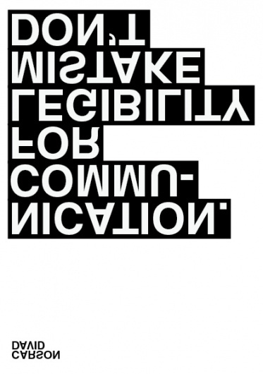 David Carson Poster | Shiro to Kuro #white #black #poster #and #helvetica #typography