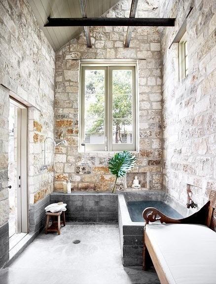 THE BROWN WORKSHOP #interior #window #bath #brick