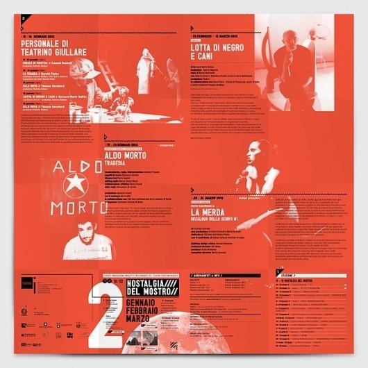 Teatro i 2011/2012 on the Behance Network #print #design #graphic #italy