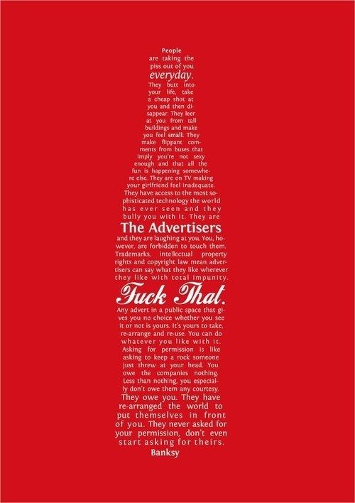 CJWHO ™ (a letter by banksy) #design #illustration #art #typography #red #letter #banksy #coke