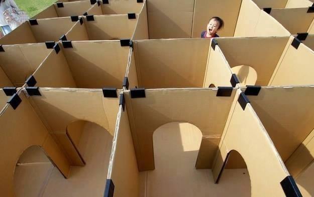 #design #idea #diy #labyrinth #kids #cardboard #toy