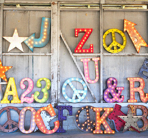 Letters to Love #marquee #lights #typography