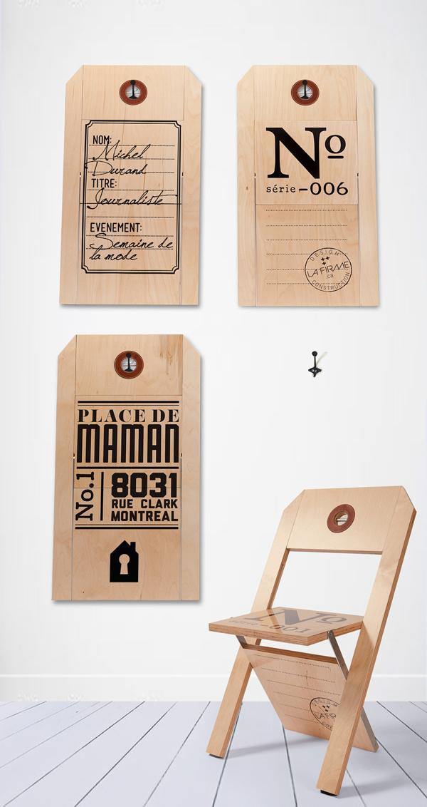 CHAISE ÉTIQUETTE / LABEL CHAIR on Behance #chair #menthol #design