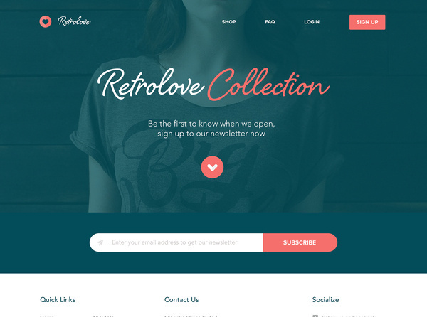 Retrolive / Homepage by Sean Halpin #flat #clean #website #store #ui #minimal #web