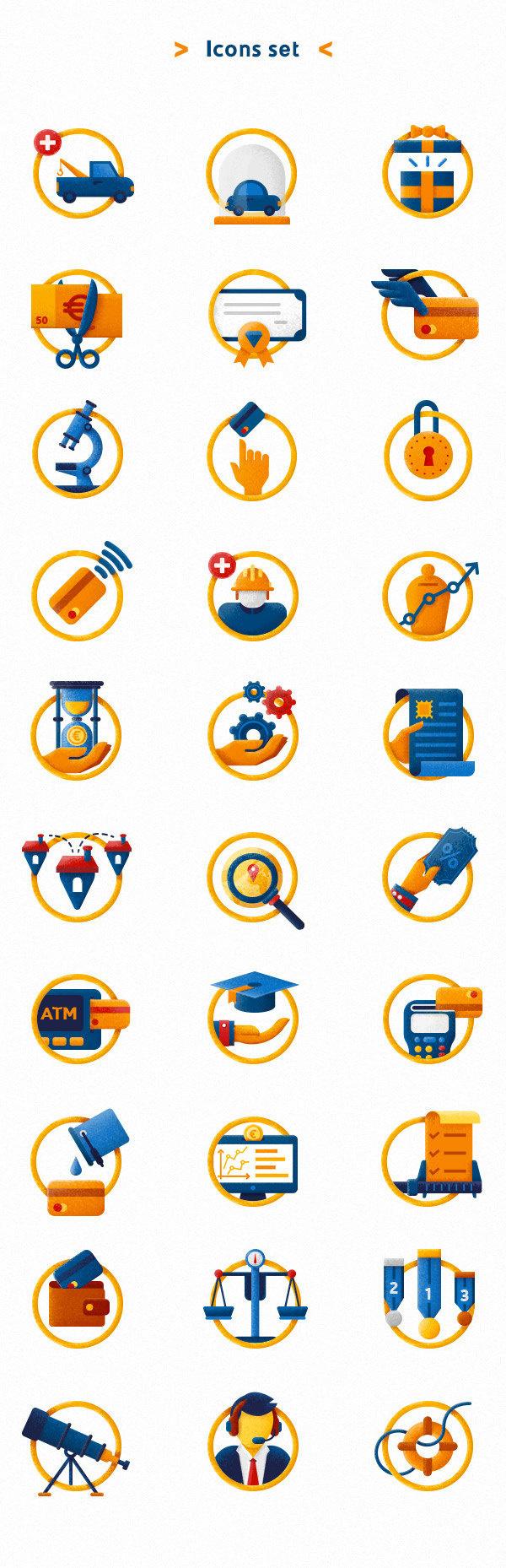 UBI Banca Restyling on Behance #icon #illustration #bank