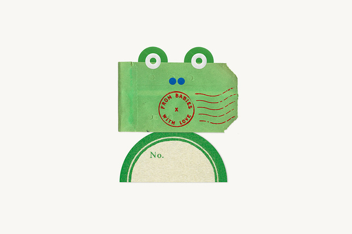 frog, mail, postage, green