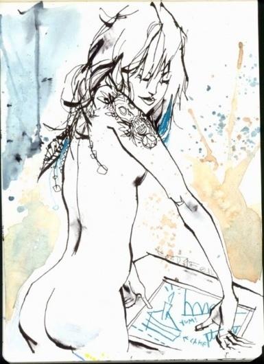 supersonic electronic / art #jim #ink #clash #mahfood #women #illustration #watercolor