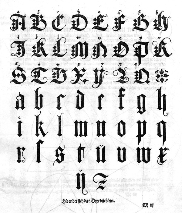The typographer is chained more than any other artist by the... but does it float #blackletter