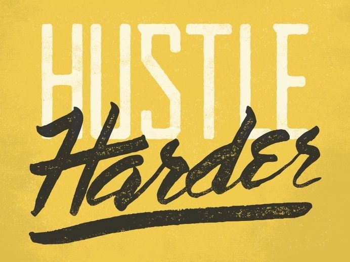 Hustle Harder by Jeremiah Britton #typography
