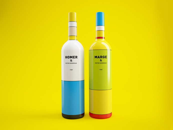 Concept: Wine, or Maybe Not? #packaging #simpsons #bottle