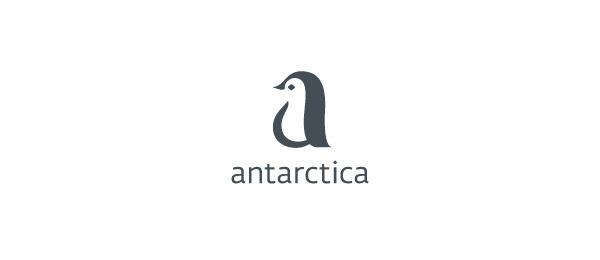 letter a logo penguin antarctica #logo #letter #design #a