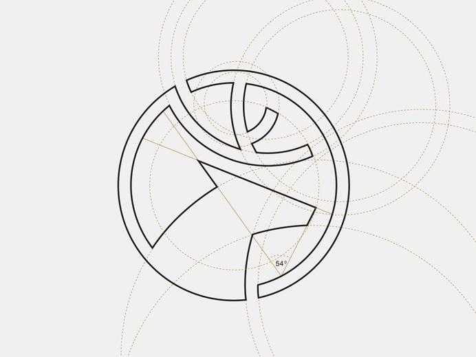 Twibfy #circle #deer #simple #grid #logo
