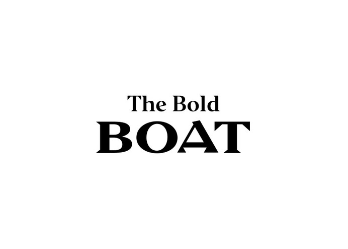 The Bold Boat - Expressive Typography with Negative Space Symbol by Nicky Genov