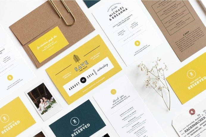 Michael & Breanna Wedding | Design by Rowan Made #stationary #wedding #branding #invitation