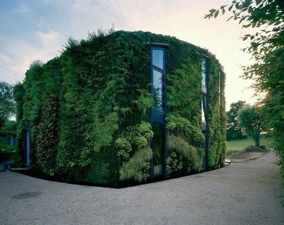 BRICK HOUSE #green #house #architecture #garden #plant