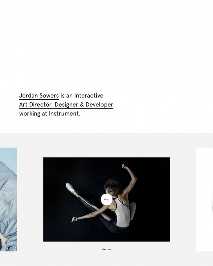Jordan sowers portfolio webdesign website new modern minimal nike cool developer designer best 2016 interaction simple clean award site of t