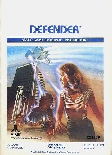 Atari - Defender   Flickr - Photo Sharing! #games #video #illustration #manual #booklet