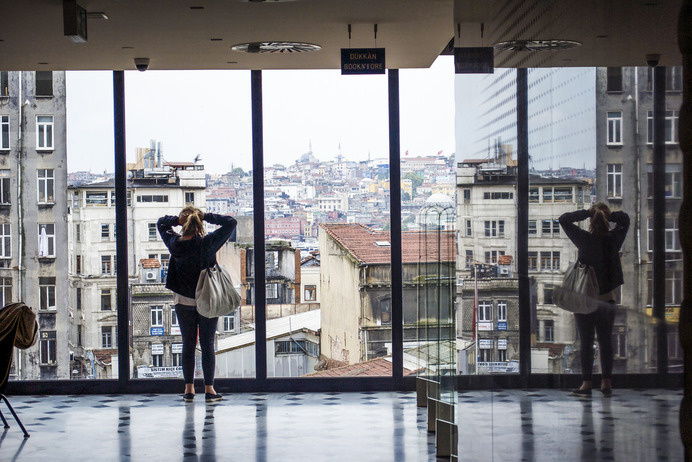 Istanbul salt galata girl | Flickr - Photo Sharing! #galata #turkey #walby #istanbul #photography #reflection #david #wall-b