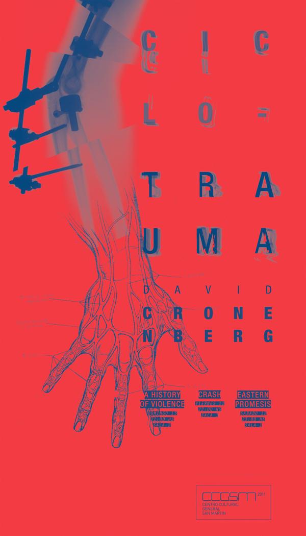 Ciclo de Cine David Cronenberg on Behance #movie #print #design #graphic #illustration #brand #posters #poster #movies