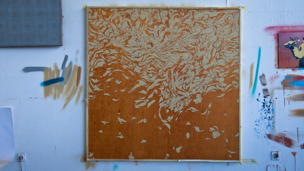 • x, y, z camouflage. on the Behance Network #woodplate #painting
