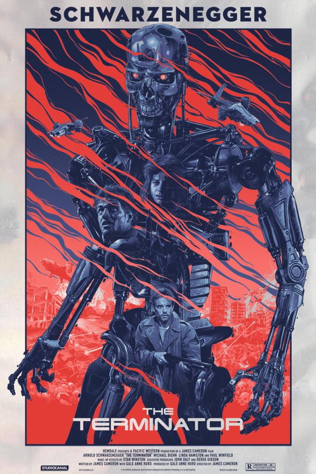 Gabz illustration movie posters #movie #illustration #terminator #postres #film