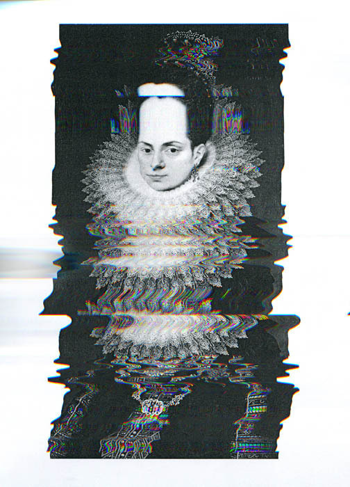 queenz #graphic #glitch #static