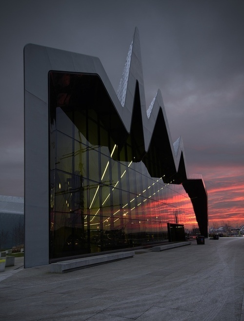 CJWHO ™ (Riverside Museum by Zaha Hadid Architects |...) #riverside #museum #hadid #architects #design #zaha #photography #architecture #reflection