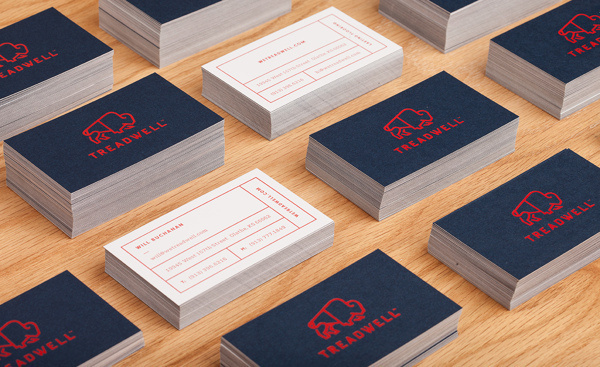 Treadwell on Behance #card #business