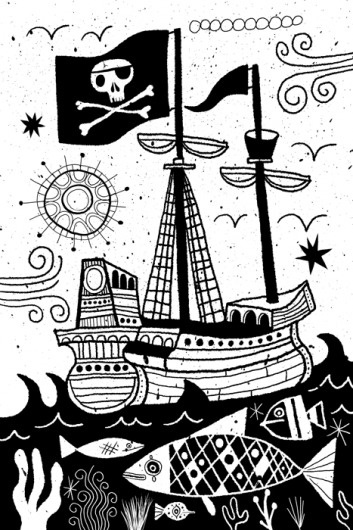 The Adventures of Tom Sawyer by Mark Twain   Nate Williams Lettering, Illustration, Art Licensing #sun #lettering #williams #book #cover #illustration #sea #ship #art #n8w #nate