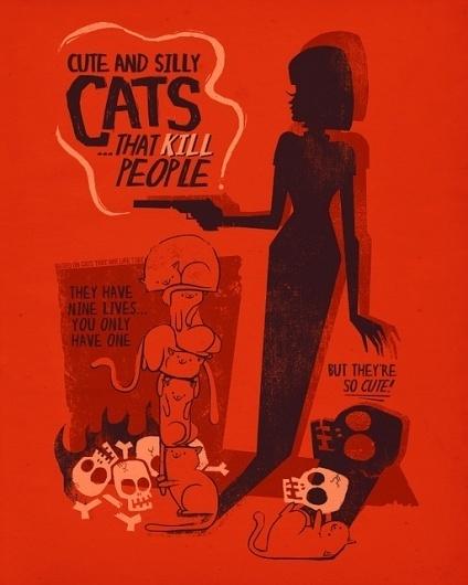 6762546371_f1af78c1b8_z.jpg (512×640) #cats #illustrations