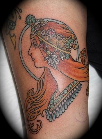 Mucha Inspired #tattoo