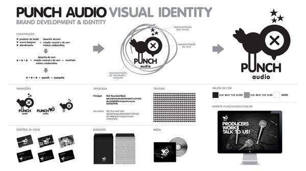 Bruno Tatsumi / Punch Audio #stationary #branding #development #identity #punch #logo