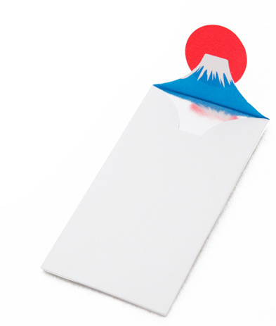 Designersgotoheaven.com Mount Fuji envelope. Designers Go To Heaven #simple #japan