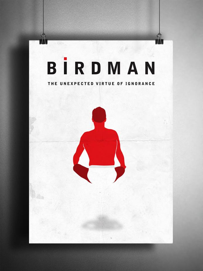 Birdman Movie Poster Reimagined by Matt Hodin www.behance.net/MattHodin #movie #hodin #design #matt #poster #birdman
