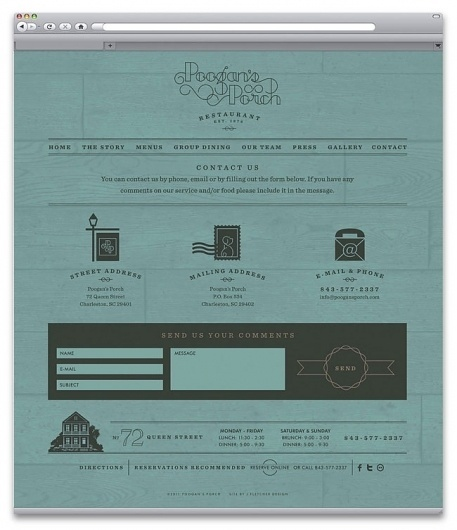 Poogan's Porch | Identity Designed #site #restaurant