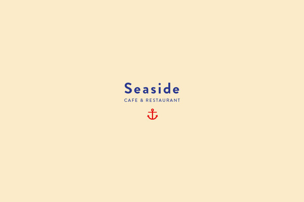 Seaside #mark #branding #menu #sorbet #sea #identity #logo #anchor #nautical
