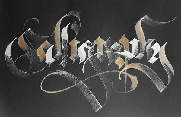 Assorted calligraphic works on the Behance Network