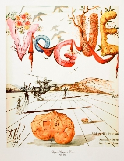 Vogue Paris April 1944 Salvador Dali | MODESQUISSE #fashion #dali #vogue #salvador