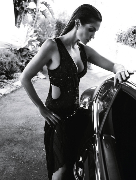 Cindy Crawford by Nagi Sakai for Harper's Bazaar Brazil #fashion #photography #bw