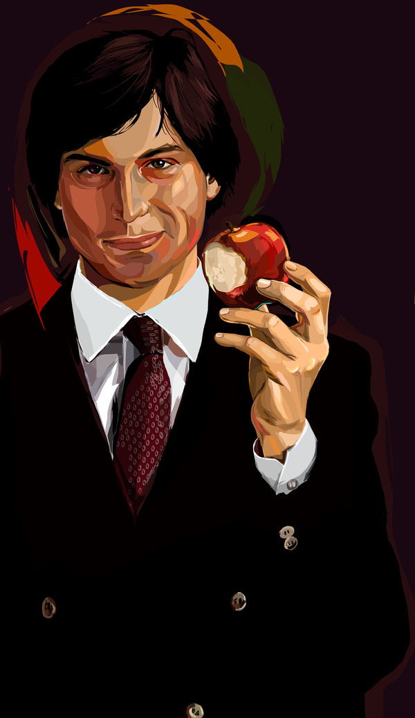 illustrations #steve #apple #vector #tako #chabukiani #jobs #illustration #mac