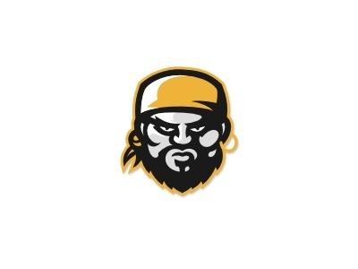 Dribbble - Pirate by Adam Walsh #logo #illustration #pirate