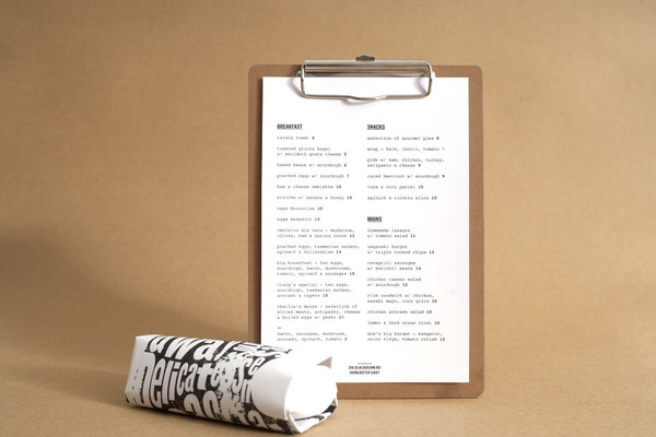 Cafe DAVID TORR #deli #print #design #graphic #wrap #menu #cafe #meat #coffee