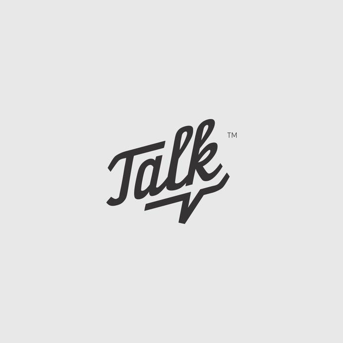 Talk logo with a subtle speech bubble #logo #design #type #minimal