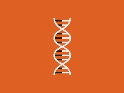 DNA icon by Linda Eliasen #dna #illustration #helix