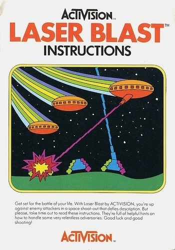 Atari - Laser Blast | Flickr - Photo Sharing! #video #booklet #games #manual
