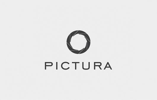 PICTURA on the Behance Network #logo #brand #branding #desing